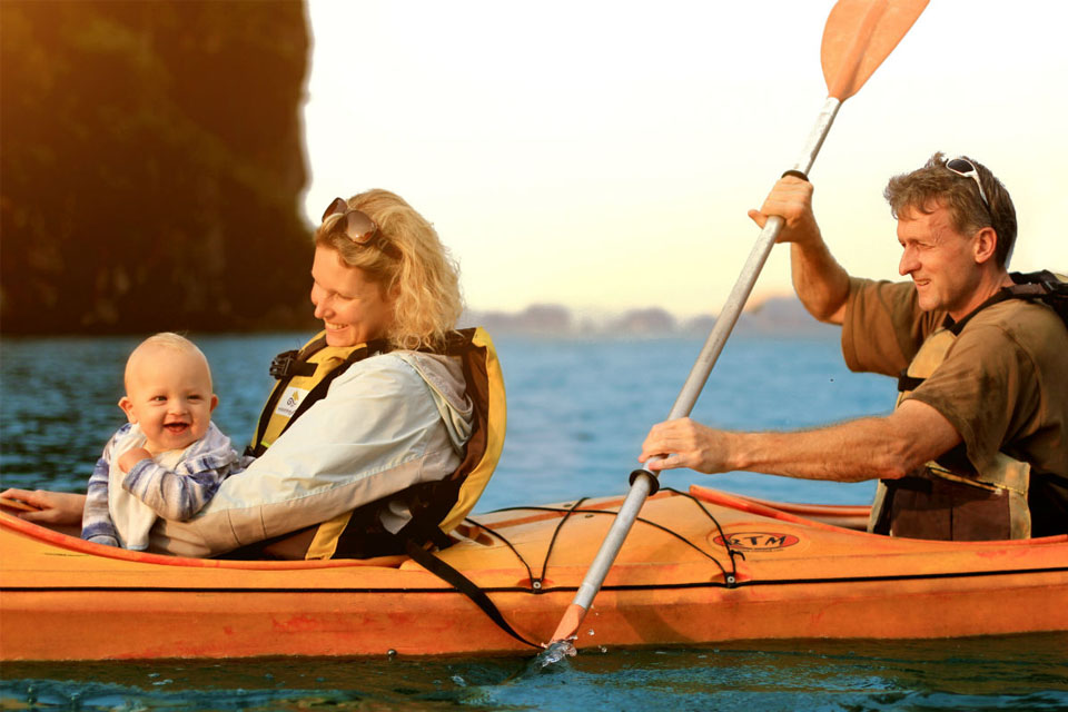 family-on-kayak