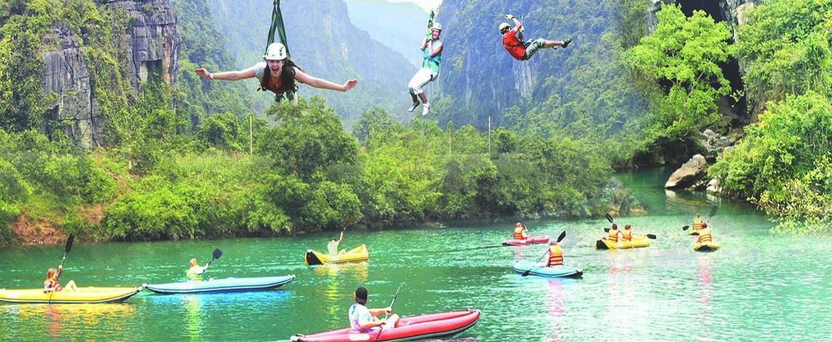 Phong Nha - Ke Bang adventure: kayaking and zipline