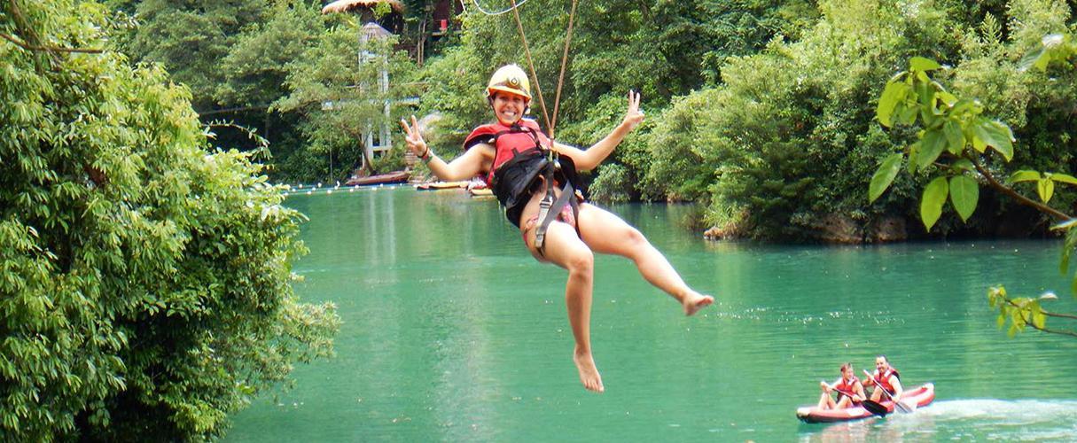 Thien Duong cave - kayak and zipline to Dark Cave