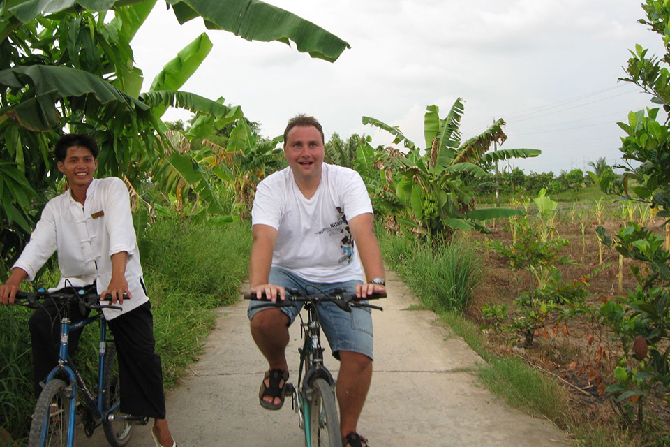 biking-around-village