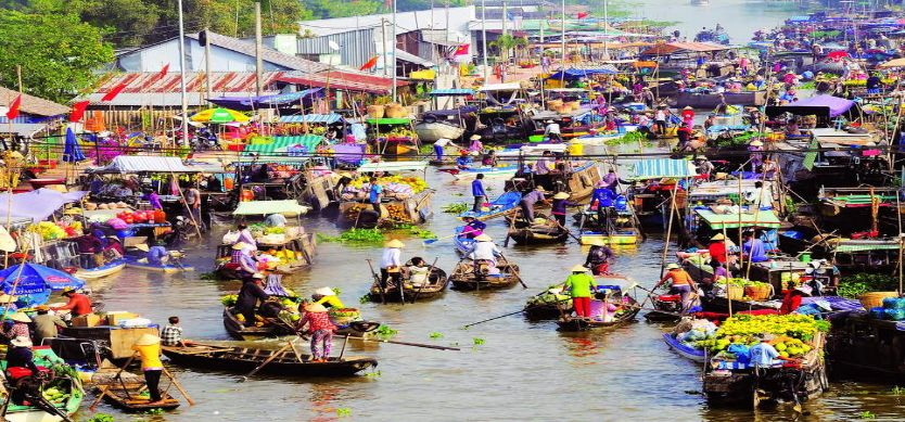 Can Tho fix up the floating market
