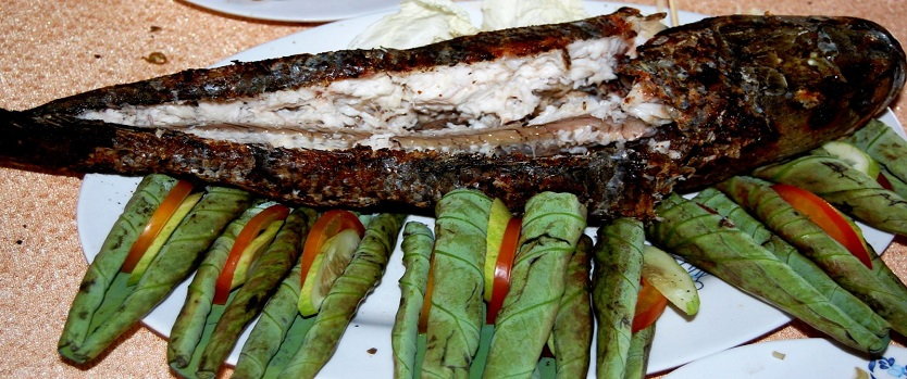 Grilled Snakehead Fish - Specialty Of Mekong Delta