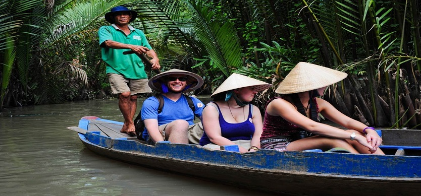 Tourists in Mekong Delta