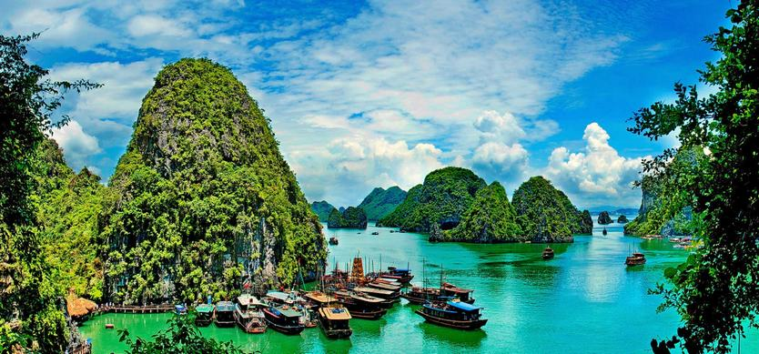 Where is Halong Bay Vietnam located on the map?