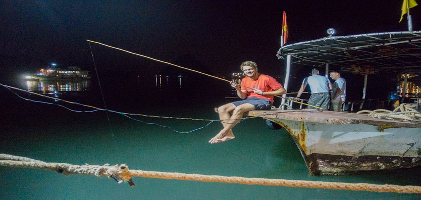 Night Squid Fishing in Halong