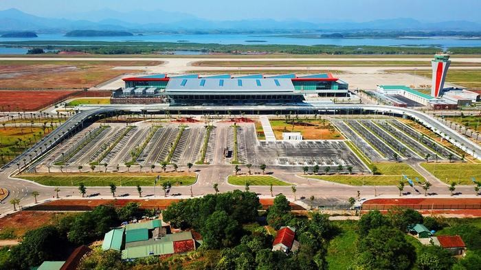 The view of the airport from above