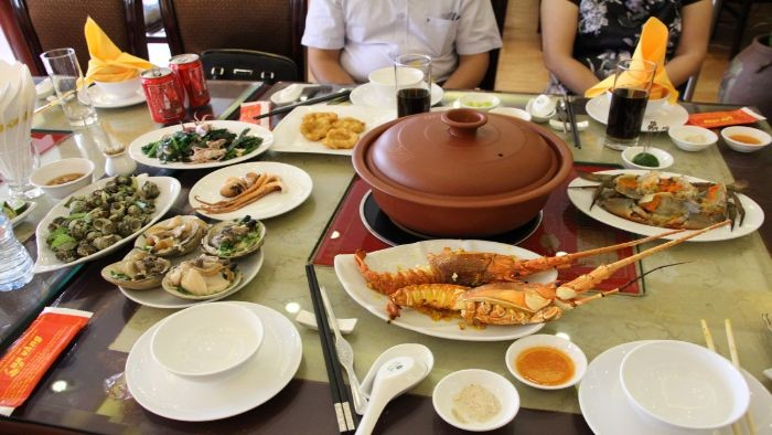 Cua Vang restaurant serves a wide selection of Eastern, Vietnamese, and Western cuisine