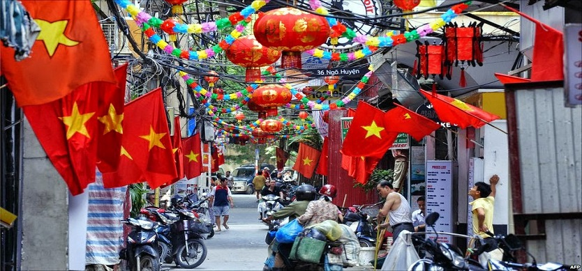 A Rare Peaceful Day In Hanoi In The National Independence Day