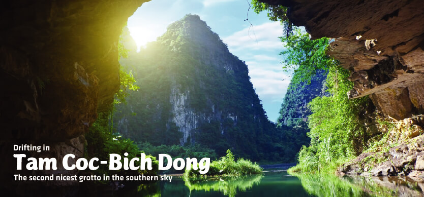 Drifting In Tam Coc-Bich Dong-The Second Nicest Grotto In Southern Sky