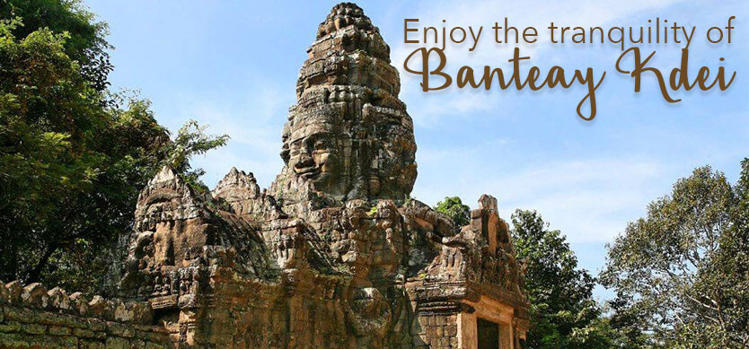 Enjoy the tranquility of Banteay Kdei