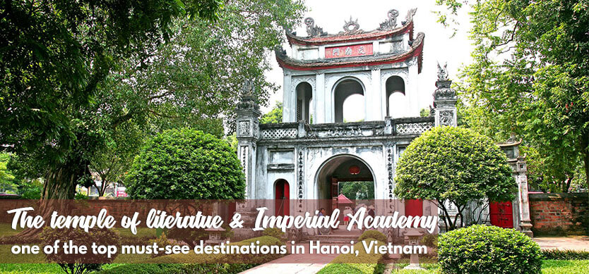 The Temple of Literature & Imperial Academy - one of the top must-see destinations in Hanoi, Vietnam