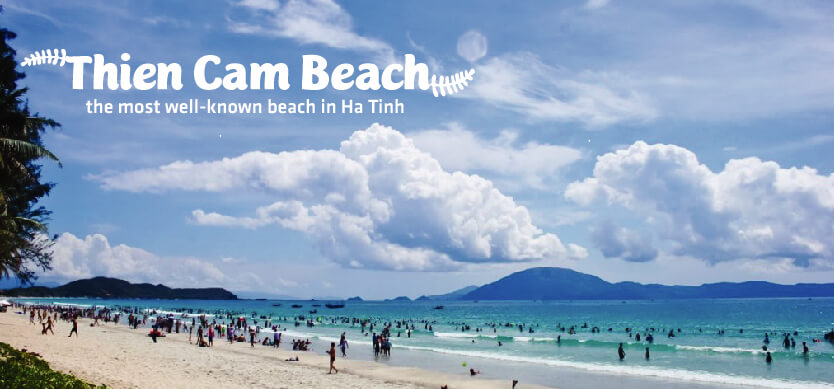 Thien Cam beach - the most well-known beach in Ha Tinh