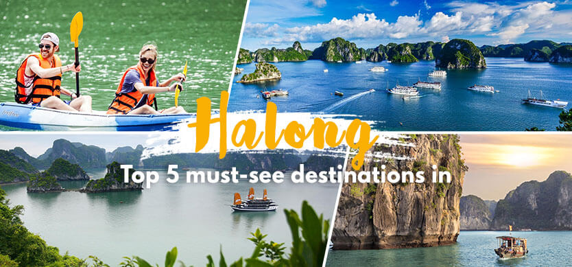 Top 5 must-see destinations in Halong