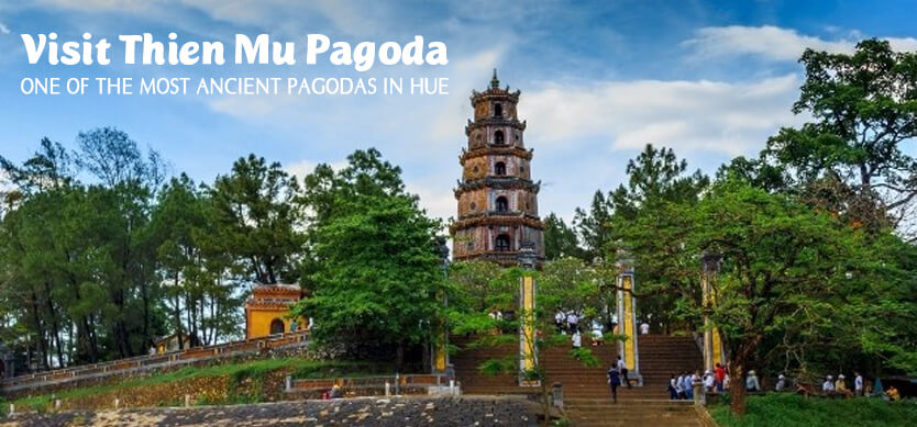 Visit Thien Mu Pagoda - One of the most ancient pagodas in Hue