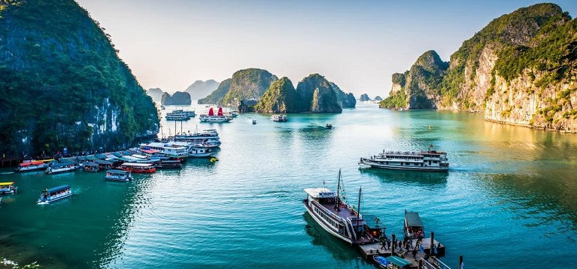 Halong Bay in Vietnam – one of the great natural wonders of the world