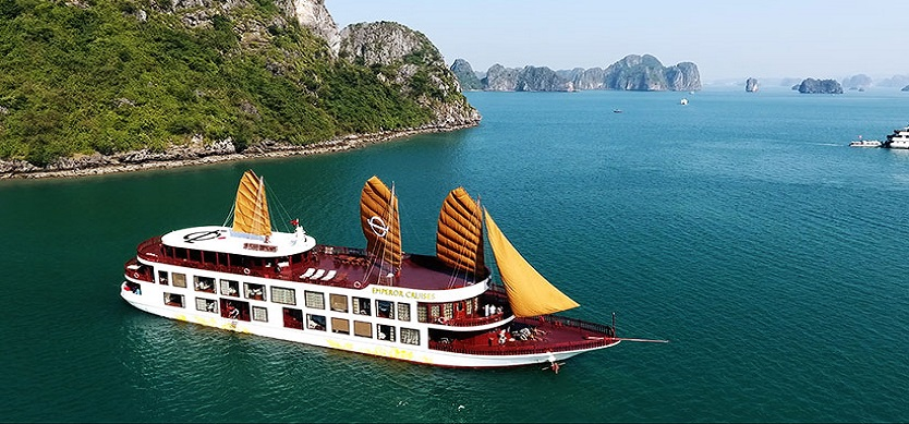 Set sail in style with all-inclusive luxury Emperor cruise in Bai Tu Long Bay