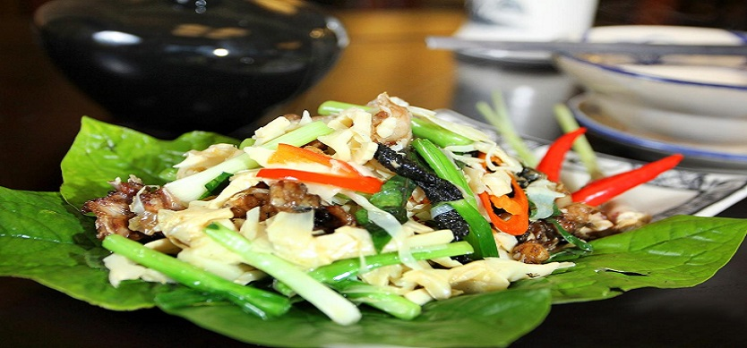 Stir-Fried Bees With Bamboo Shoots- Hoa Binh's Speciality You Must Try