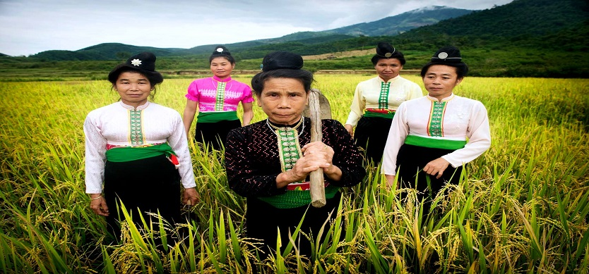 Traditional clothing of Thai People in Mai Chau