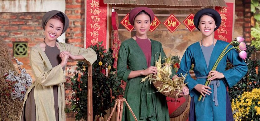 Four-panel traditional dress (Ao Tu Than) – the especially natural beauty of ancient women in the north