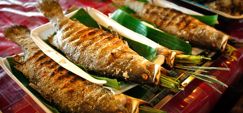 Freshwater fish – a special treat in a Thai wedding