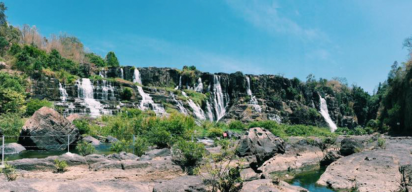 Explore the majestic beauty of Pongour waterfall in Da Lat