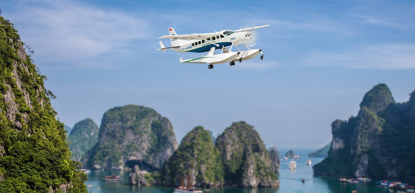 How to get to Halong Bay from Hanoi by seaplane