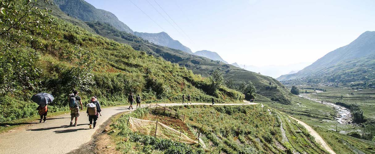 Sapa trekking and homestay group tour by bus 2D1N