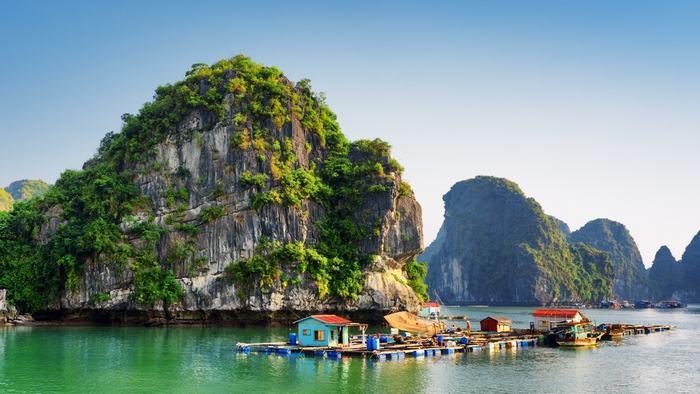 The beautiful Halong Bay