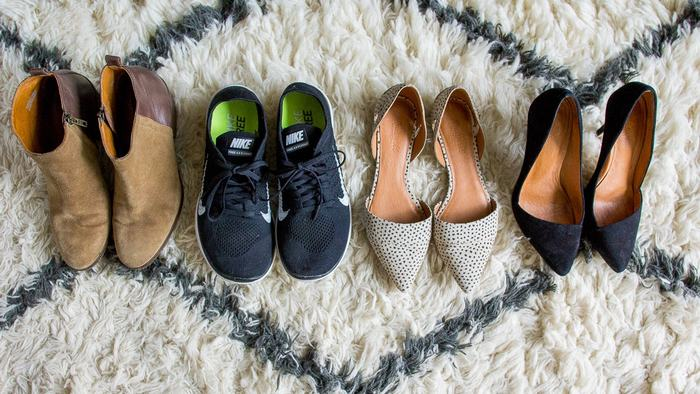 Shoes for traveling