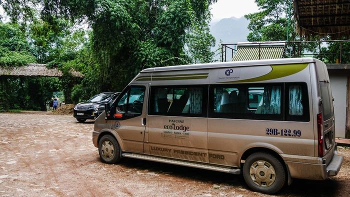 Shuttle bus from Mai Chau to Hanoi