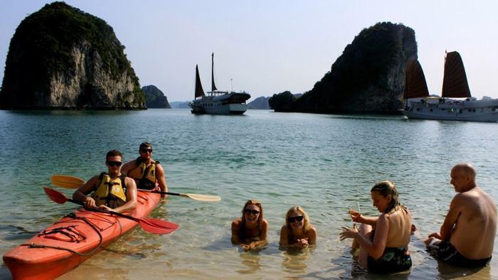 Swimming in Ti Top Island