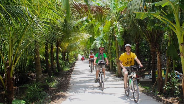 Cycling around Mekong Delta