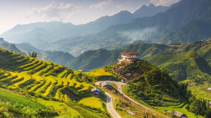 The peaceful scenery of Sapa