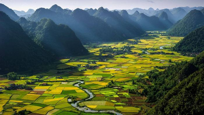 Fabulous beauty of Bac Son Valley from above