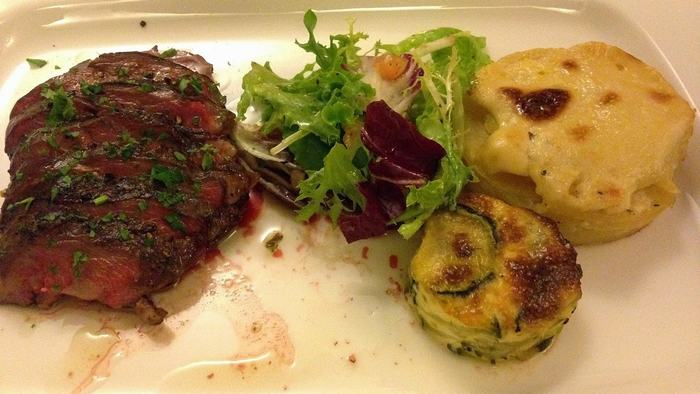 Delicious food in Trois Gourmands