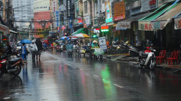 Rain in Ho Chi Minh City