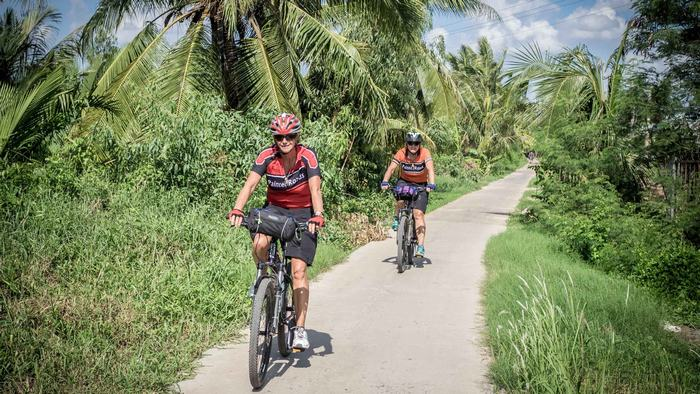 Cycling in Mekong Delta