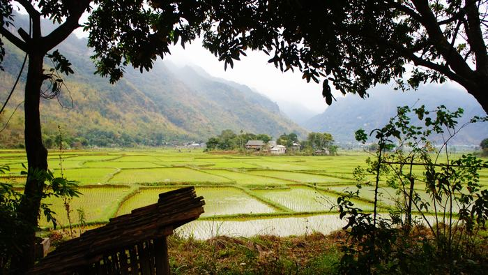 Peaceful scenery of Mai Chau