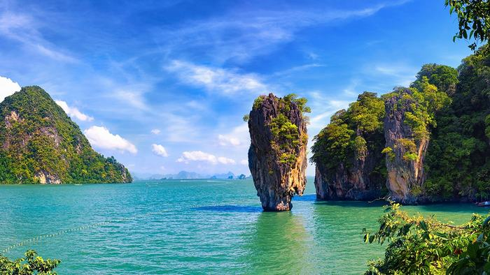 beautiful scenery of Phang Nga Bay