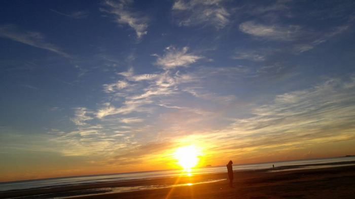 Sunrise on Thien Cam Beach