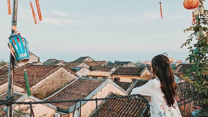 Enjoying the view of Hoi An on Faifo