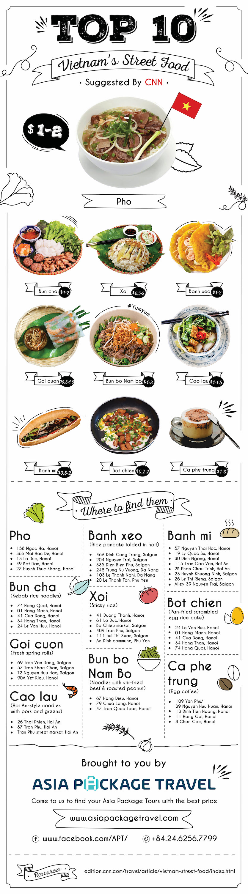 You can easily find places throughout Vietnam to try the best dishes