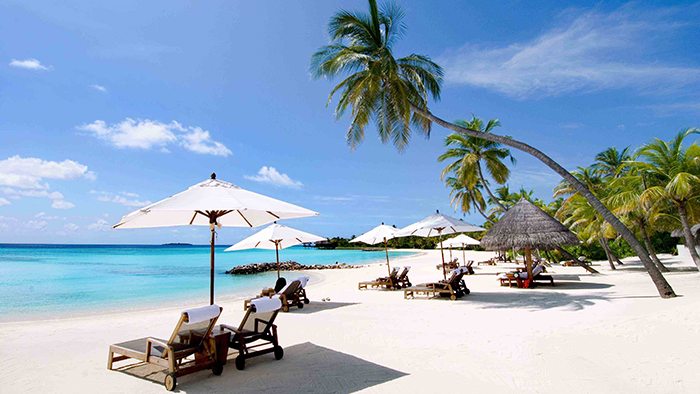 The smooth white sandy beaches in Phu Quoc