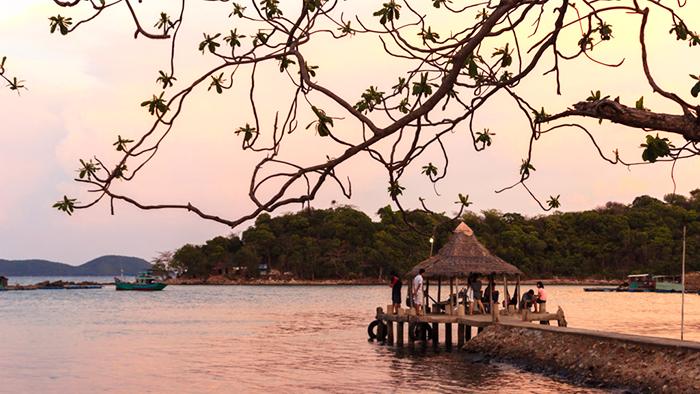 Natural scenery on Ba Lua archipelago