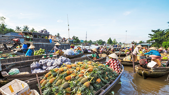 Cai Rang floating market - a unique characteristic of the Southwest