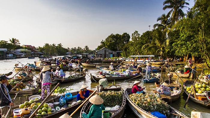 Mekong Delta floating markets