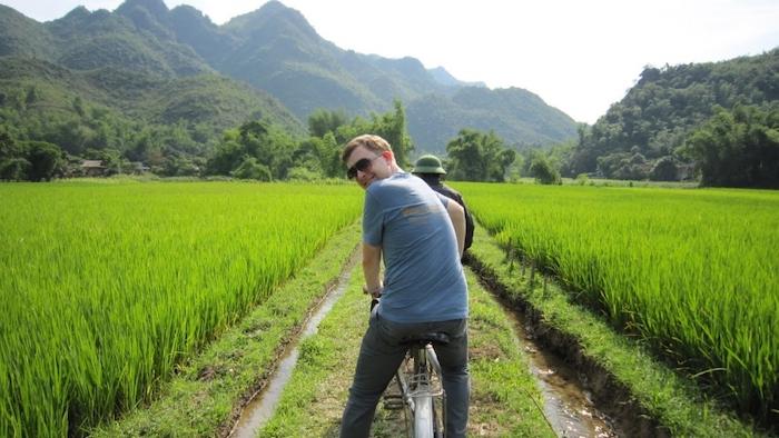 Biking around Lac village