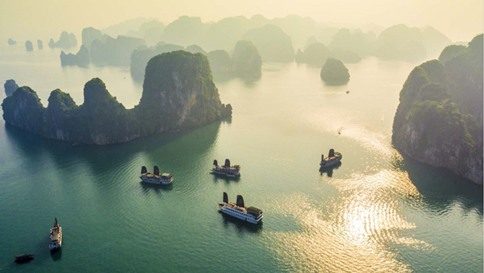 Halong Bay viewed from above