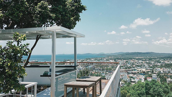 Admiring Phu Quoc island from Chuon Chuon Bistro & Sky Bar