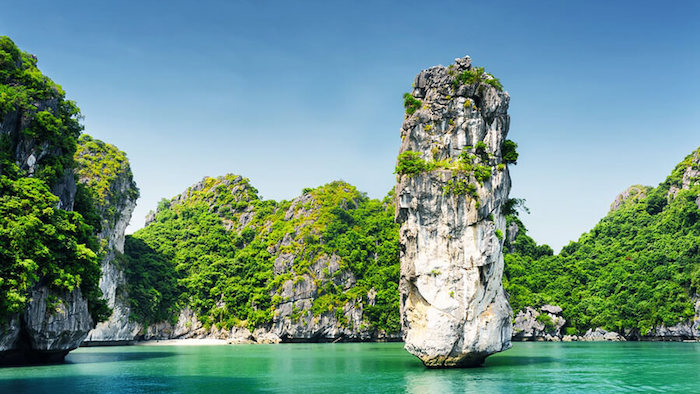 Halong Bay is attractive by majestic and charming nature